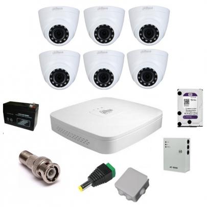 Комплект видеонаблюдения Dahua на 6 внутренних камер на 2 Мп