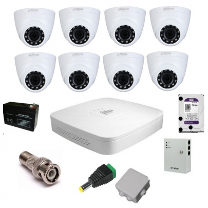 Комплект видеонаблюдения Dahua на 8 внутренних камер на 2 Мп
