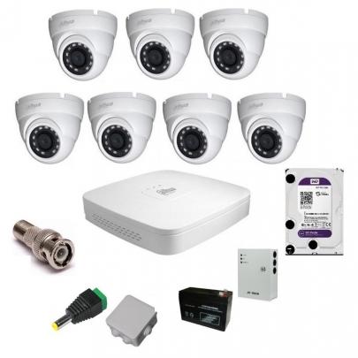 Система видеонаблюдения Dahua на 7 наружных камер на 2 Мп с установкой
