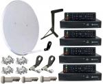 Спутниковая антенна на 4 независимых пользователя