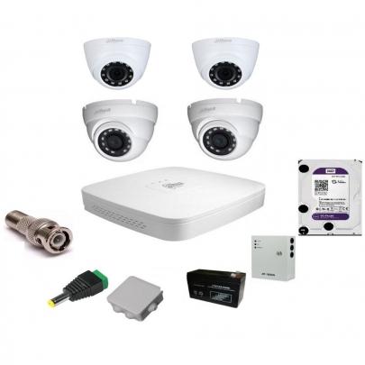 Система видеонаблюдения Dahua на 2 внутренние и 2 наружные камеры на 2 Мп с установкой
