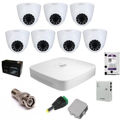 Система видеонаблюдения Dahua на 7 внутренних камер на 2 Мп с установкой
