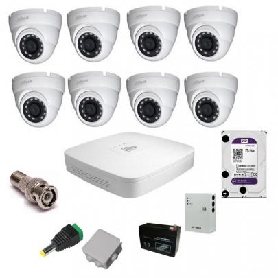 Система видеонаблюдения Dahua на 8 наружных камер на 2 Мп с установкой