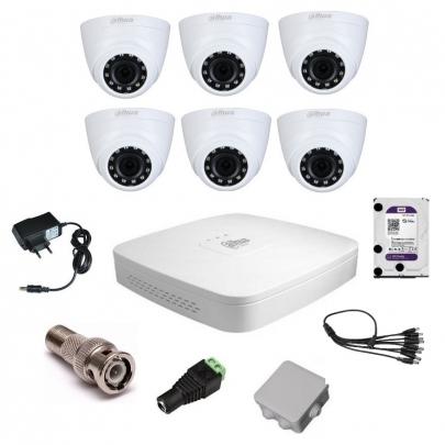 Система видеонаблюдения Dahua на 6 внутренних камер на 2 Мп с установкой