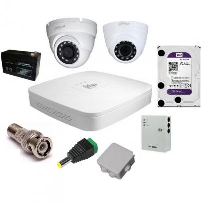 Комплект видеонаблюдения Dahua на 1 внутреннюю и 1 наружную камеры на 2 Мп