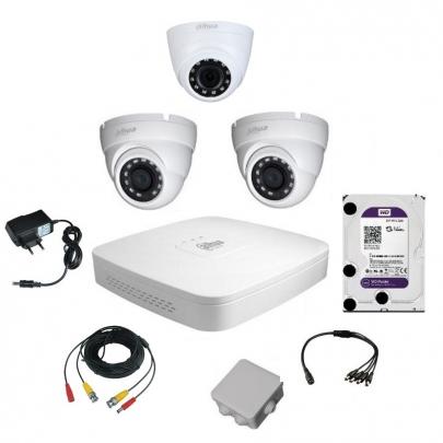 Комплект видеонаблюдения для самостоятельной установки Dahua на 3 камеры на 2 Мп