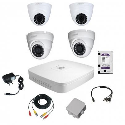 Комплект видеонаблюдения для самостоятельной установки Dahua на 4 камеры на 2 Мп