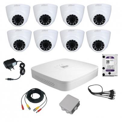 Комплект видеонаблюдения для самостоятельной установки Dahua на 8 внутренних камер на 2 Мп