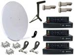 Спутниковая антенна на 3 независимых пользователя